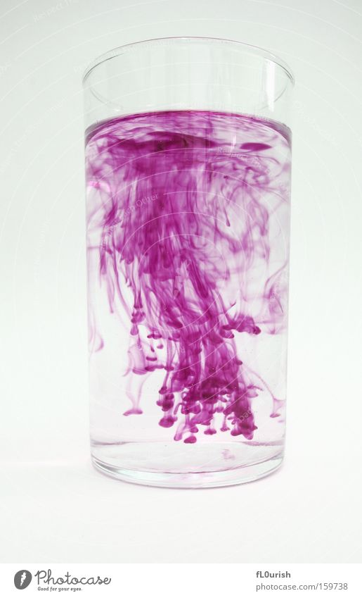 Water Beautiful White Colour Movement Glass Esthetic Violet Physics Fluid Stationery Ink Tumbler