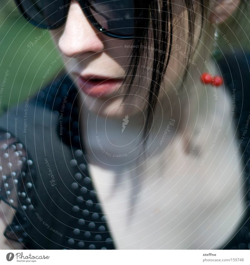 Woman Beautiful Lady Sunglasses Strand of hair Diva Unidentified Tulle
