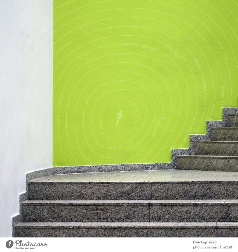 HB-CC Detail Stairs Line Green White Arrangement Upward Mint green Ascending Staircase (Hallway) Illustration Graphic Tidy up Minimal Bremerhaven
