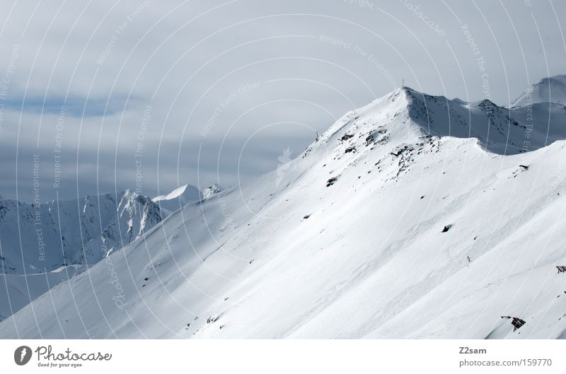 playground Mountain Fiss Austria Peak Untouched Winter Landscape Alps Snow ridge