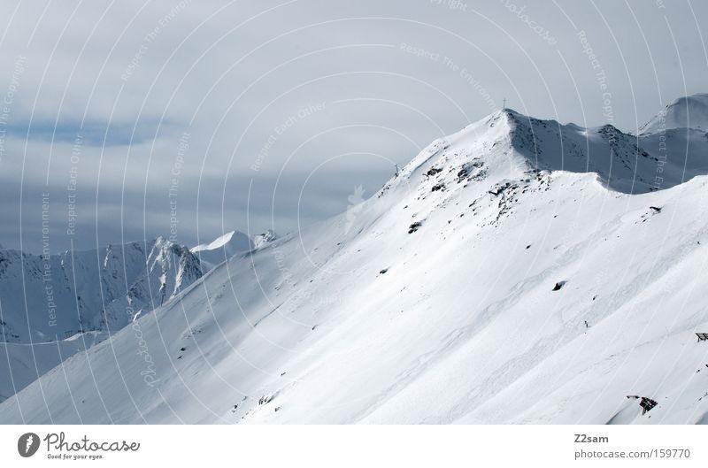 Winter Snow Mountain Landscape Alps Peak Austria Untouched Fiss