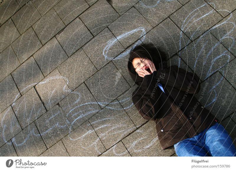 weary angel Hand Art Culture Clouds Wing Stone Angel Lie Fatigue Halo Yawn Ground street chalk Shadow Bird's-eye view