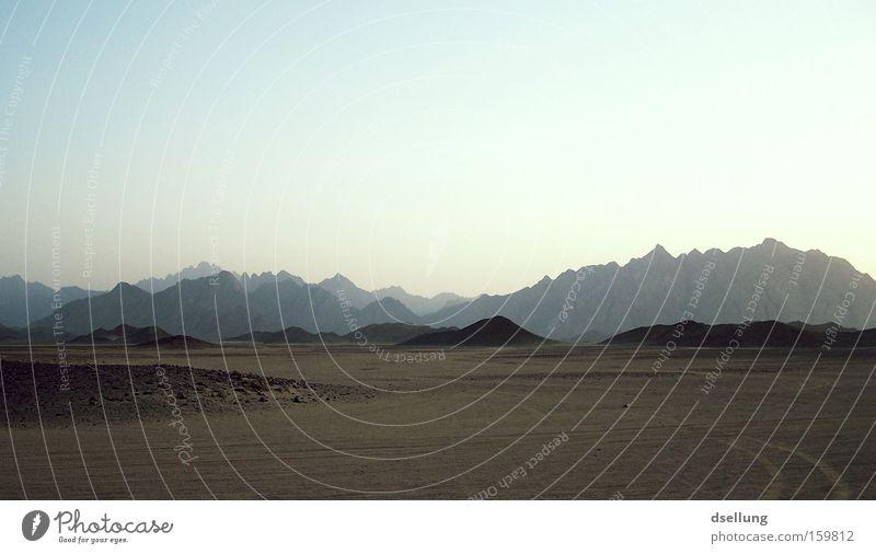 Mountain Stone Warmth Sand Dirty Africa Desert Hot Egypt Mirage