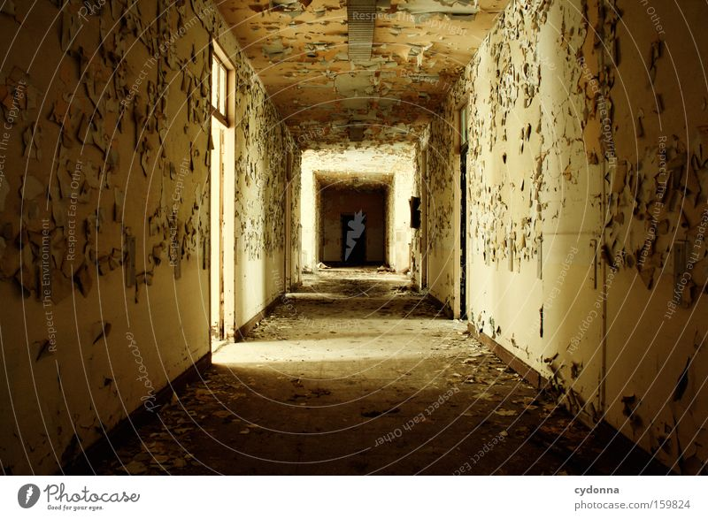 Old Life Lanes & trails Room Time Transience Derelict Decline Hallway Destruction Memory Location Corridor Vacancy Military building Doorframe