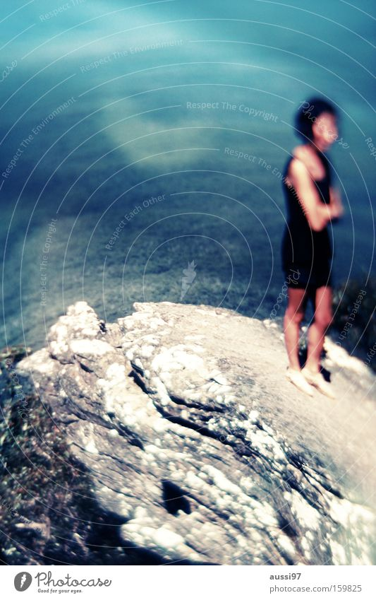 The water's not deep, you can stand in it... Mountain Edge Unafraid of heights Valley Vantage point Cliff Rock Vertigo projection