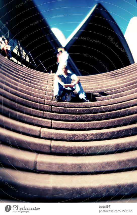 Sydney Sider Stairs Date Wait Distorted Modern Man dating