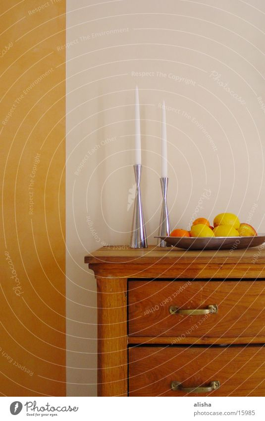 stillife with lemons and orange Candle Orange Wall (building) Wood Living or residing bar