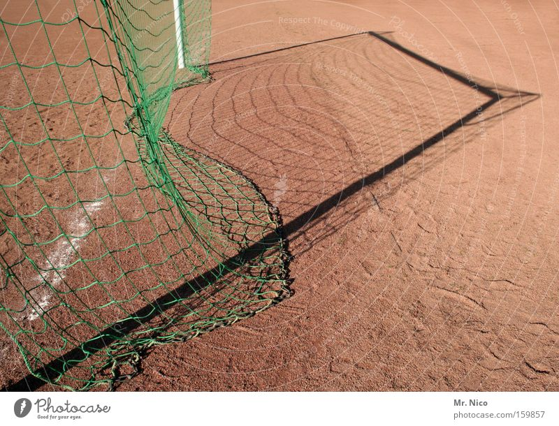 rear camera Soccer Goal Net Shadow Hard court Crate Goalkeeper Pole Leisure and hobbies Sporting grounds Ball sports Sports Playing Gate ash pit circular league