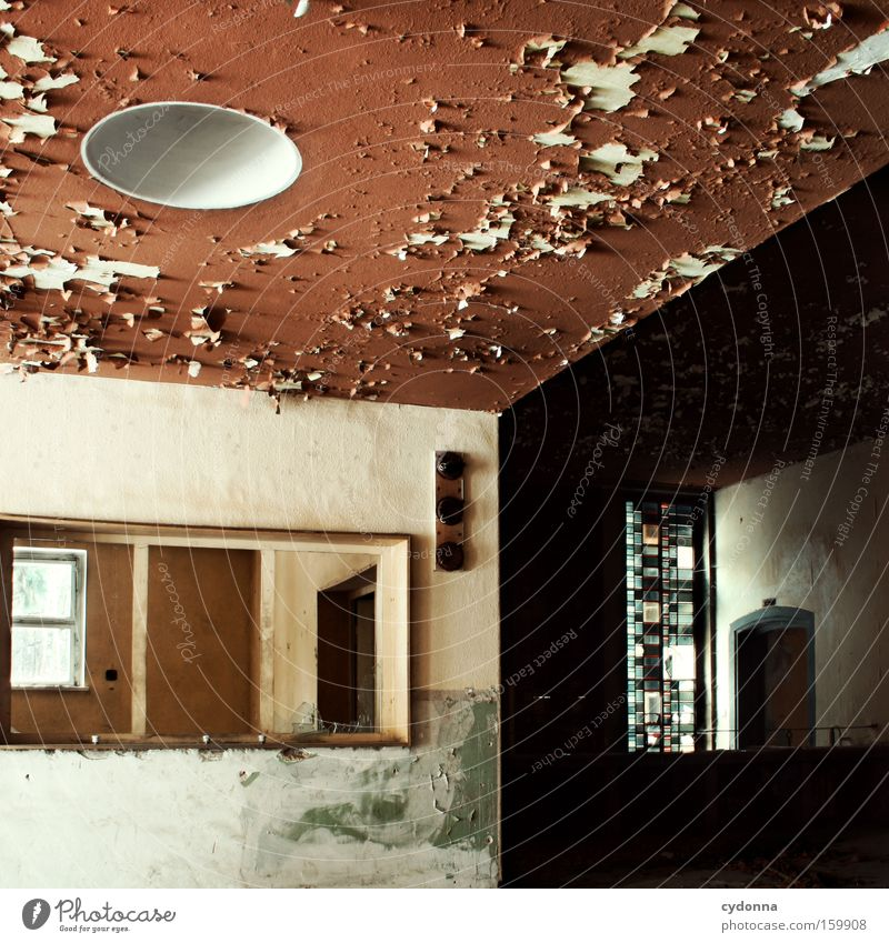 Old Life Window Room Time Transience Derelict Decline Division Entrance Destruction Ceiling Memory Location Vacancy Military building