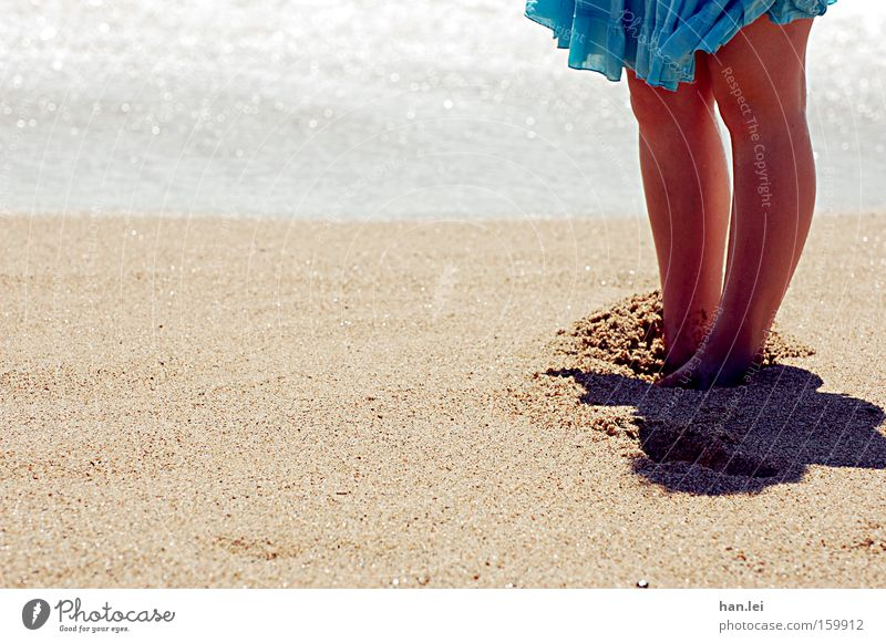 Me gusta la mar, me gustas tú. Beach Ocean Summer Feet Sand Waves Legs Skirt Barefoot Warmth Wind Spain Knee Relaxation Healthy foot peeling