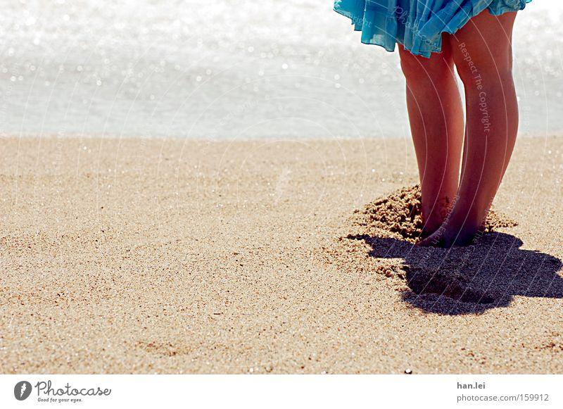 Ocean Summer Beach Relaxation Feet Warmth Sand Legs Waves Healthy Wind Skirt Spain Barefoot Knee