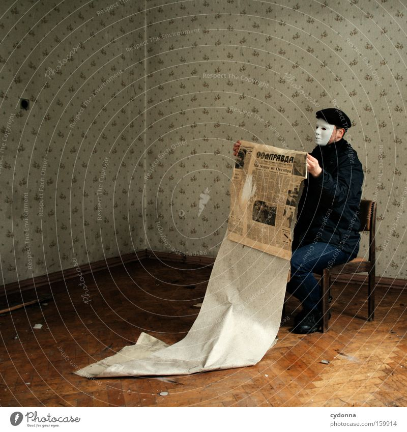 [Weimar09] Message Reader active Room Location Decline Human being Transience Time Life Memory Chair Mask Camouflage Military building Communicate
