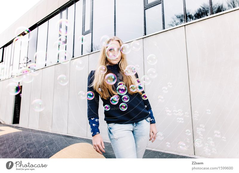 Youth (Young adults) City Beautiful Young woman 18 - 30 years Adults Feminine Style Lifestyle Fashion Dream Elegant Blonde Idea Cool (slang) Hip & trendy
