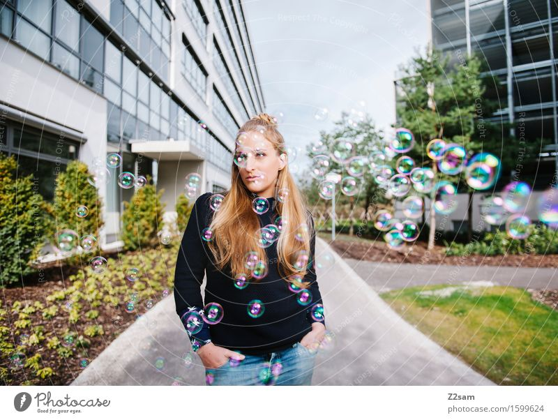 Youth (Young adults) City Beautiful Young woman 18 - 30 years Adults Feminine Style Lifestyle Fashion Dream Elegant Modern Blonde Creativity Cool (slang)