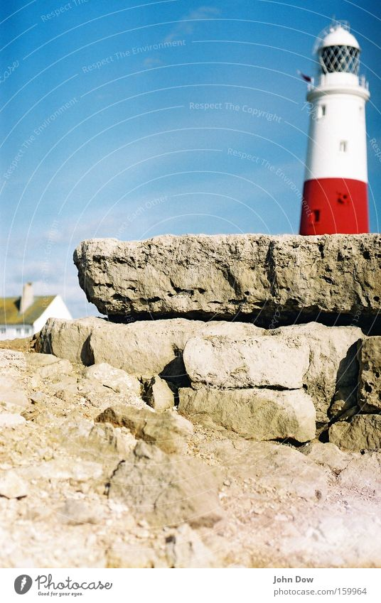 Red Summer Vacation & Travel Ocean Architecture Stone Coast Trip Rock Safety Living or residing Protection Harbour Navigation Watchfulness Warning label