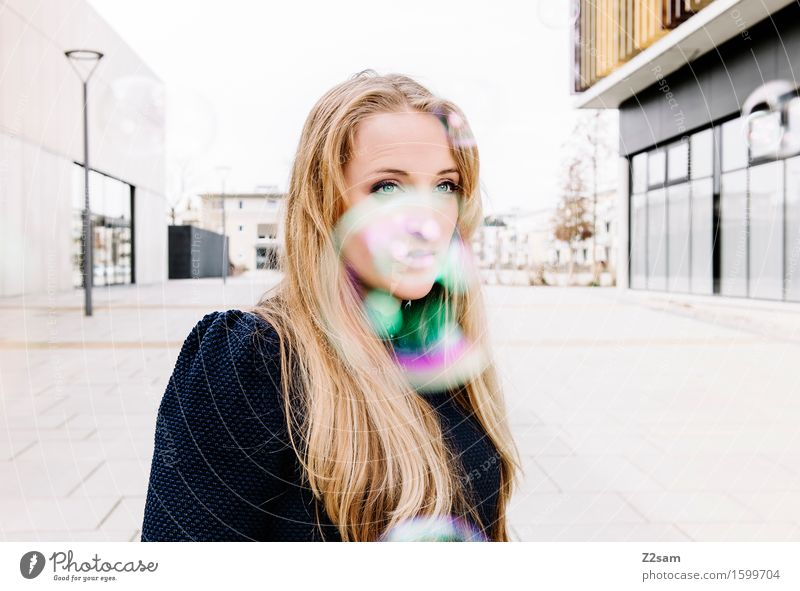 Youth (Young adults) Beautiful Colour Young woman 18 - 30 years Adults Architecture Feminine Style Lifestyle Fashion Dream Elegant Idyll Blonde Stand
