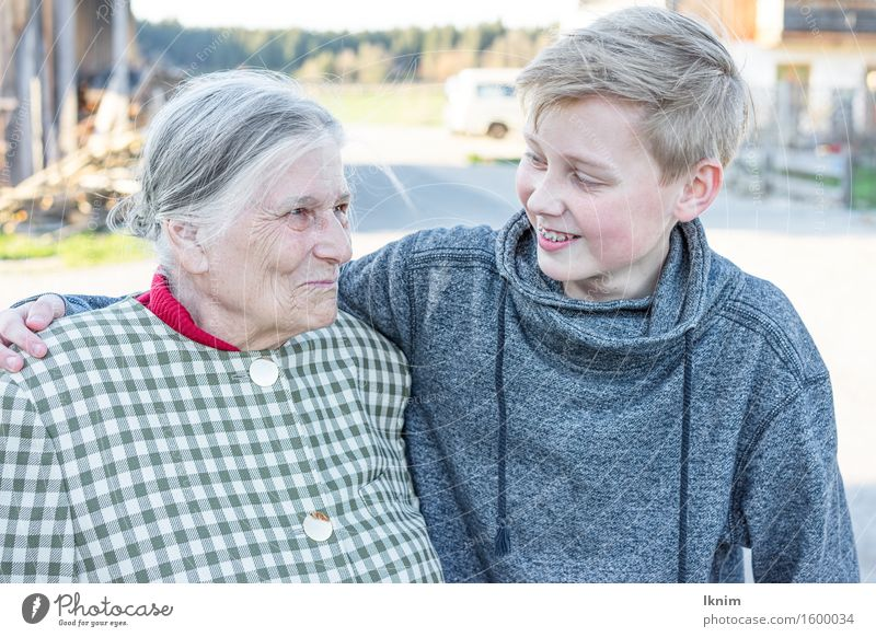 happy grandmother with grandson Lifestyle Joy Happy Care of the elderly Boy (child) Female senior Woman Grandmother Family & Relations Infancy Senior citizen 2