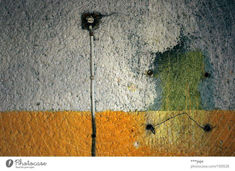 sad hippopotamus... [weimar 09] Hippopotamus Desert Electricity Wall (building) Derelict Old Broken Colour Dye Mold Shabby Cable Socket Home improvement store