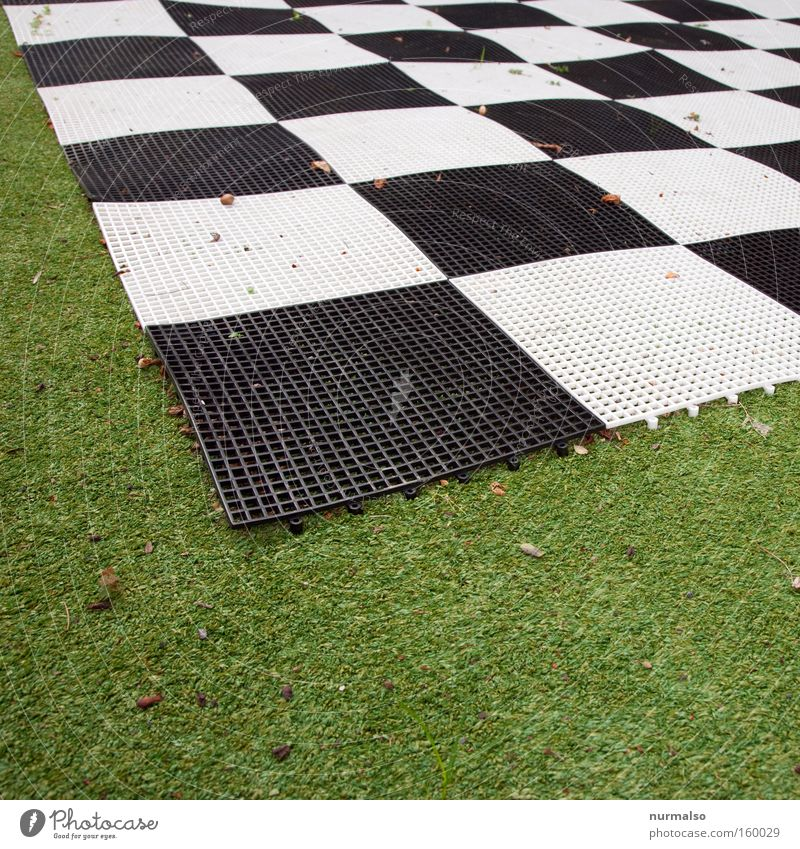 Symmetry on Green Lawn Grass surface Artificial lawn Playground Chessboard Serrated Connectedness Pattern Plastic Unnatural Death Hideous Home improvement store