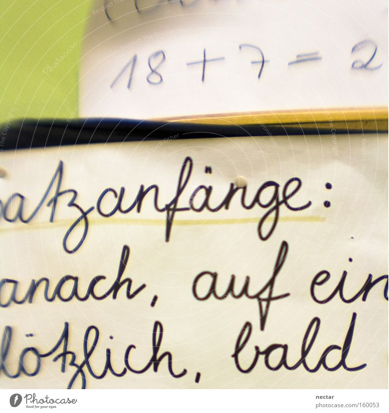 atz beginnings: anach, on a sudden, soon Write Calculation Germany School Mathematics Characters Document Digits and numbers Letters (alphabet) 2 Success