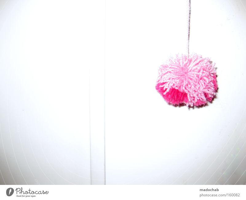 Très chique trashig | a phonetic symphony Tuft Decoration Pink Girlish Trashy Bright background Copy Space left Copy Space bottom Odds and ends Feather duster