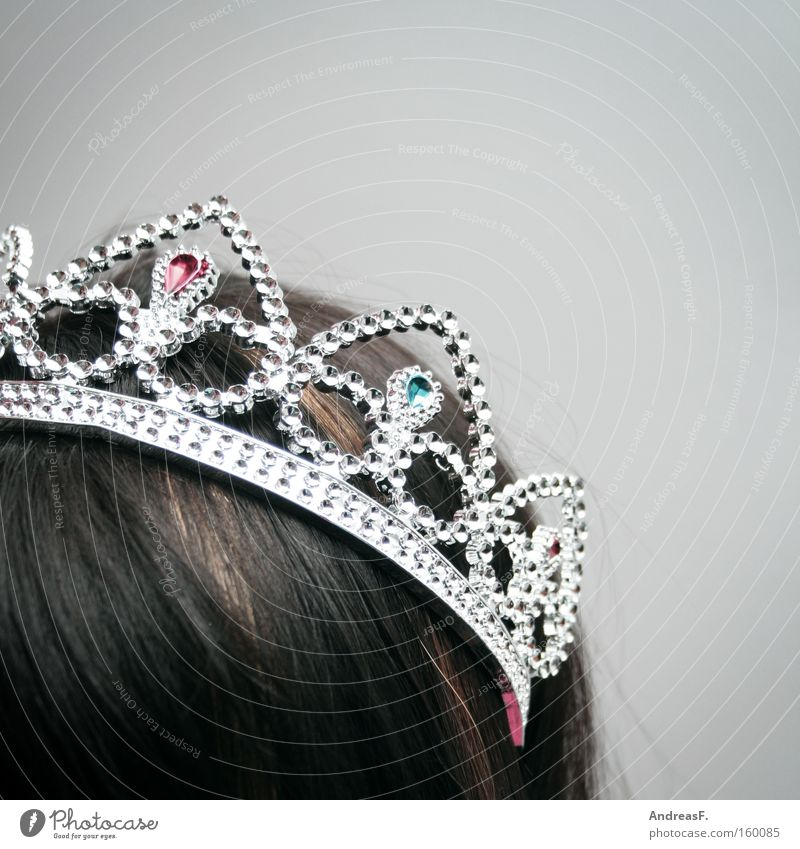 Miss Photocase Crown Princess Young lady Rich Diamond Luxury Jewellery Aristocracy Carnival Head Hair and hairstyles Glittering Beautiful ill-timed royal diadem