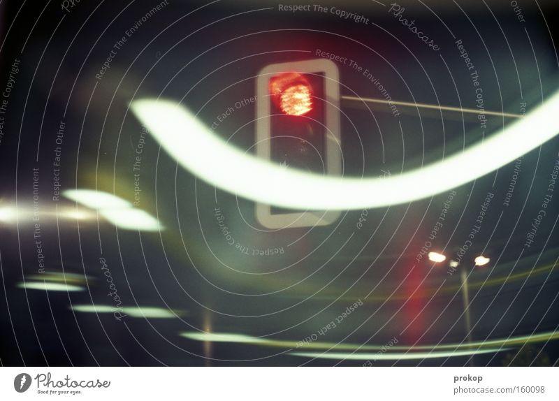Red Joy Dark Movement Wait Transport Driving Stop Curve Traffic light Brakes
