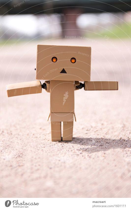 small robot Figure little man Piece Balance balancing act Line Lanes & trails Street Life Eyes Illuminate Movement Small Miniature