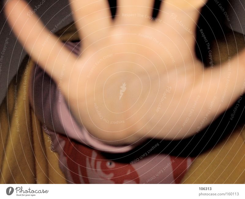 Photo number 109957 Hand Stop Catch Grasp Palm of the hand Fingers Blur Warning label Defensive Defense training Protective Human being Gap Take a photo