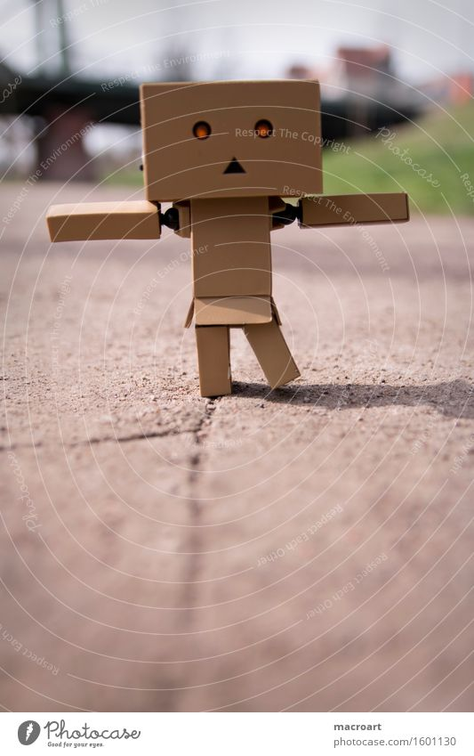 balancing act Figure little man Piece Balance Line Lanes & trails Street Life Eyes Illuminate Movement danboo danboard Crack & Rip & Tear Small Miniature
