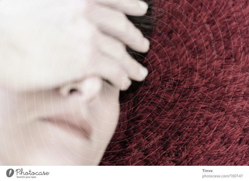 Woman Hand Face Dream Head Sadness Grief Meditative Dazzle Cover Wake up Remember Vulnerable Pain Headache