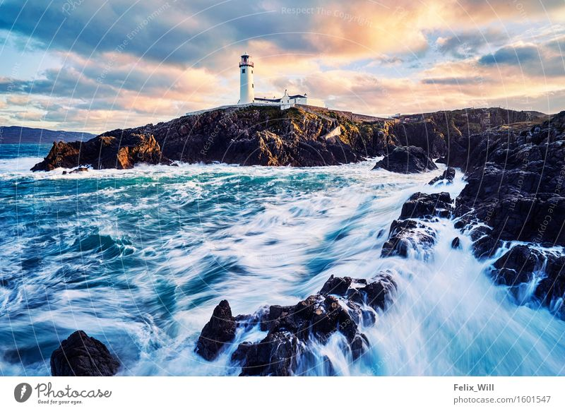 The Lighthouse Vacation & Travel Trip Freedom Sightseeing Sun Ocean Environment Nature Landscape Water Clouds Sunrise Sunset Beautiful weather Waves Coast