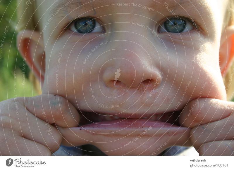Child Joy Face Creepy Brash Grimace