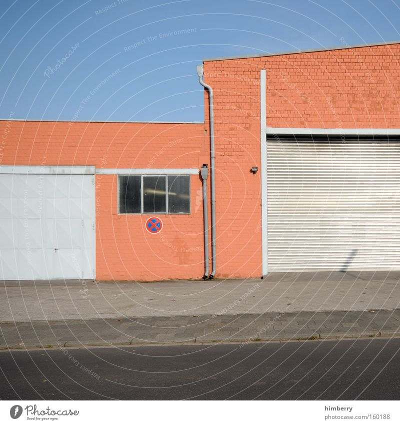 Building Facade Industry Industrial Photography Gate Warehouse Garage Storage Industrial zone Gate entrance
