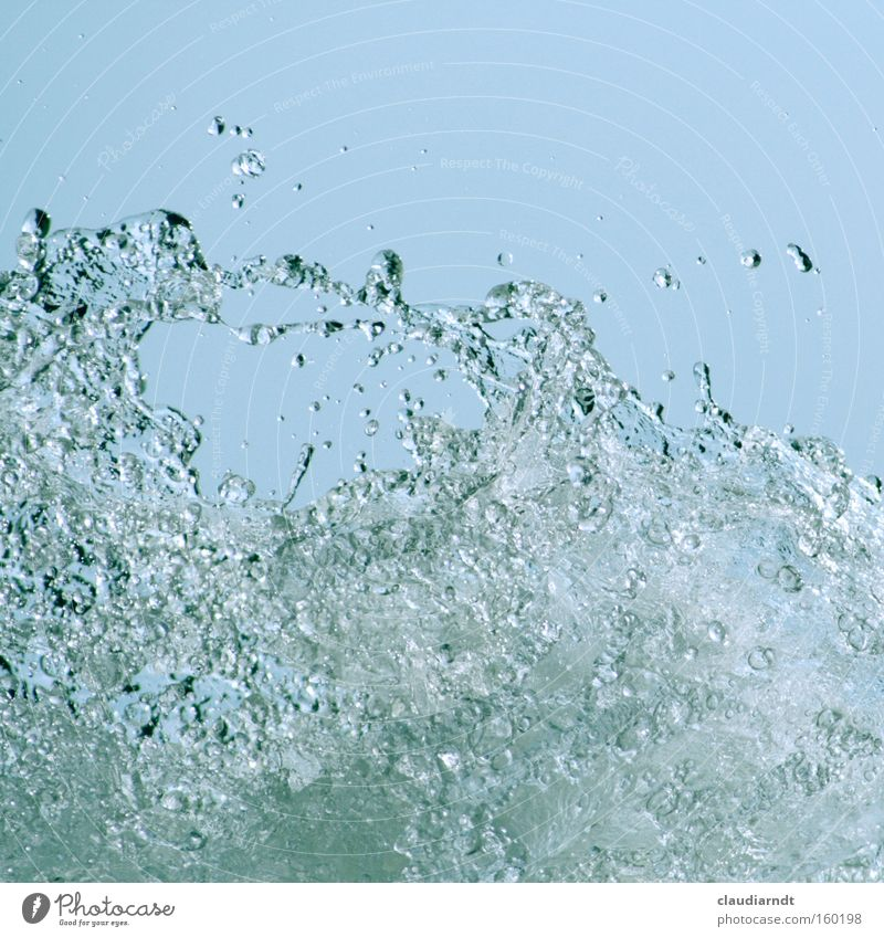 Water Ocean Waves Drops of water Wet Force Speed Fresh Inject Source
