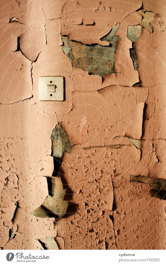Old Colour Life Wall (building) Room Time Retro Transience Derelict Decline Destruction Memory Location Bursting Light switch Military building