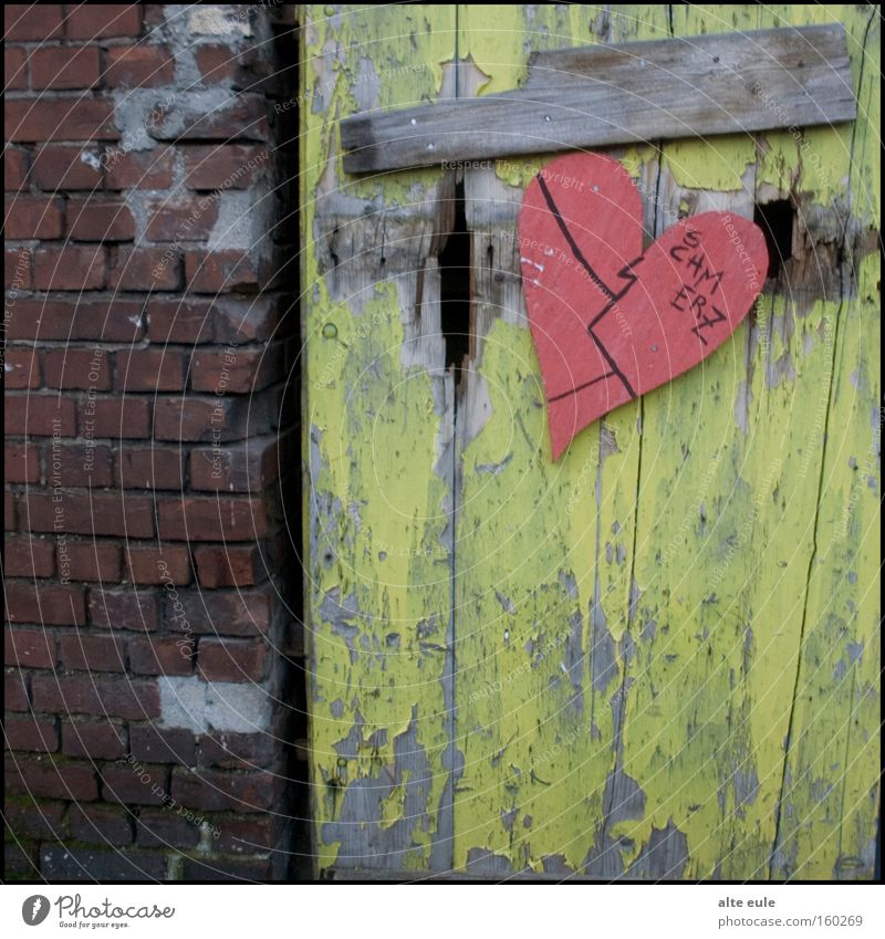 pain. Heart Door Decline Wall (barrier) Brick Multicoloured Pain Hollow Alternative Left Repression Grief Distress foundry Occupied house Love