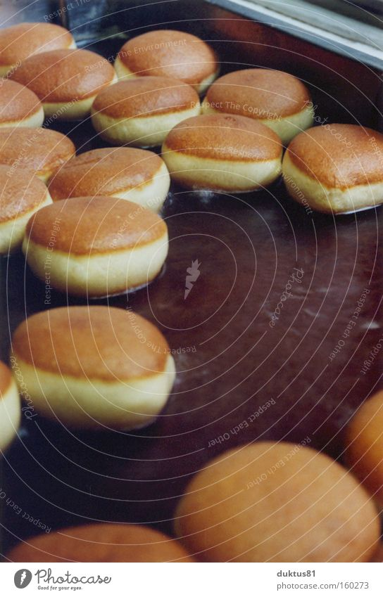 Floating Berliners Bakery Delicious Baked goods Tartlet Cake Nutrition fry Fat bake Donut Many Round