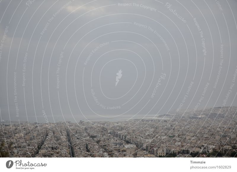 Cold Architecture Building Horizon Claustrophobia Skyline Capital city Port City Athens
