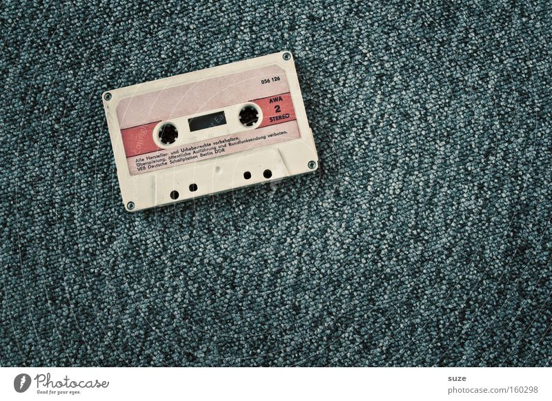 Old Gray Music Simple Retro Media Past Analog Nostalgia Audio tape Sound Tape cassette Iconic Sound storage medium Listen to music