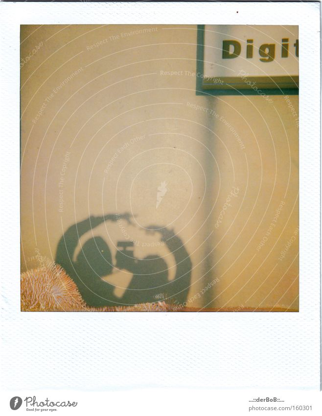 YOU & me Polaroid Shadow Medium format Analog Fingerprint Together Touch Camera Line Signs and labeling Ochre Photography Art Culture Quality instant digi