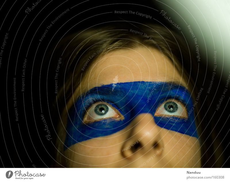 Woman Human being Blue Eyes Small Hope Cute Trust Make-up Loyalty Innocent Beg Blindfold Saucer-eyed