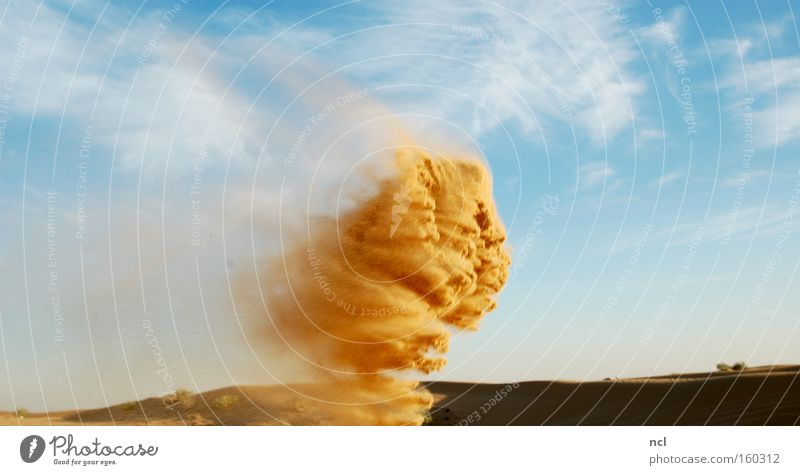 Sky Sand Wind Earth Desert Asia Hot Gale Derelict Mythology Blow Monster Formation Swirl Produce