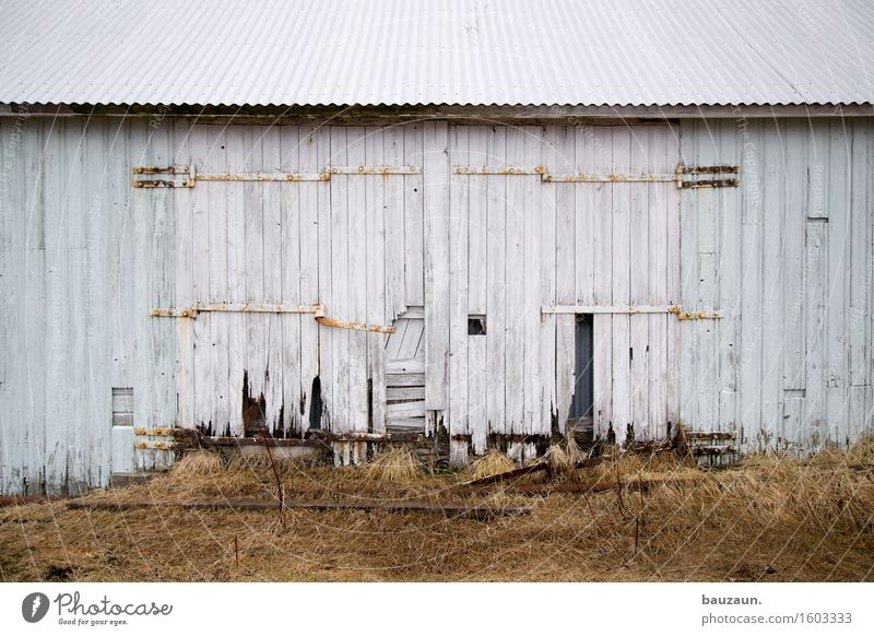 |-|-|. Iceland Port City Hut Industrial plant Factory Manmade structures Building Wall (barrier) Wall (building) Facade Door Roof Line Stripe Old Sadness Broken