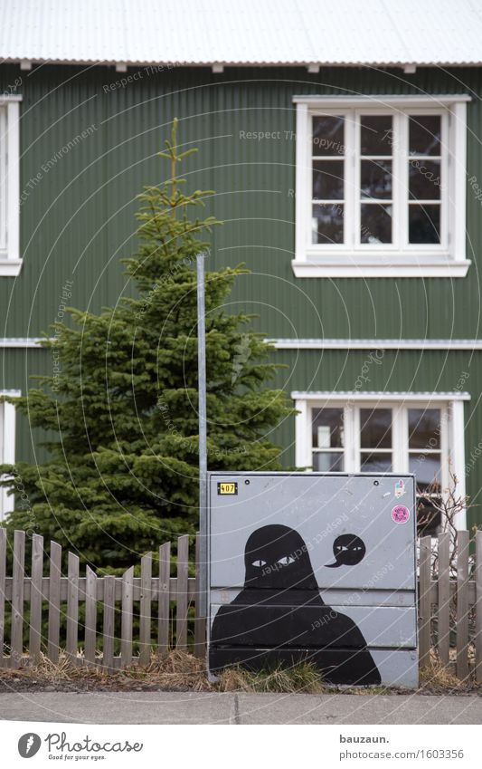 fir. Energy industry Art Plant Tree Fir tree Garden Iceland Village House (Residential Structure) Detached house Manmade structures Building Wall (barrier)
