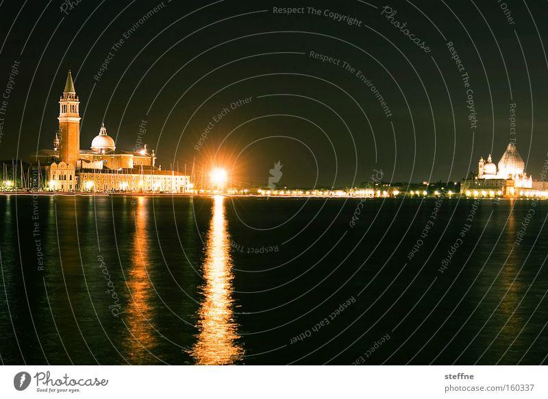 venice beach Venice Italy Vacation & Travel Water Night Dark Calm Peace Tourism Flood House of worship Landmark Monument Venezia