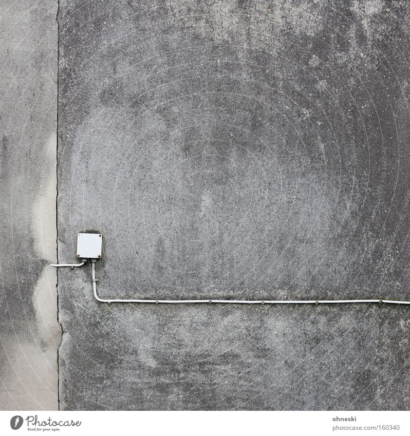 House (Residential Structure) Loneliness Wall (building) Gray Sadness Grief Electricity Gloomy Technology Cable Graphic Minimalistic Electrical equipment