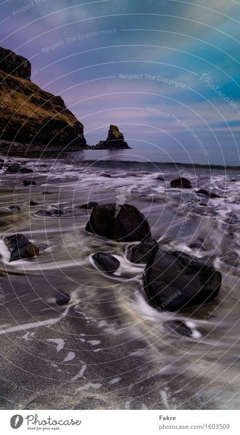 Sky Nature Blue Water Ocean Landscape Clouds Beach Black Environment Coast Gray Brown Sand Rock Earth