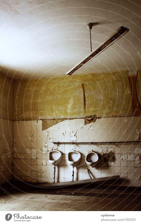 Old Life Room Time Bathroom Transience Toilet Toilet Tile Derelict Pipe Decline Neon light Destruction Memory Location