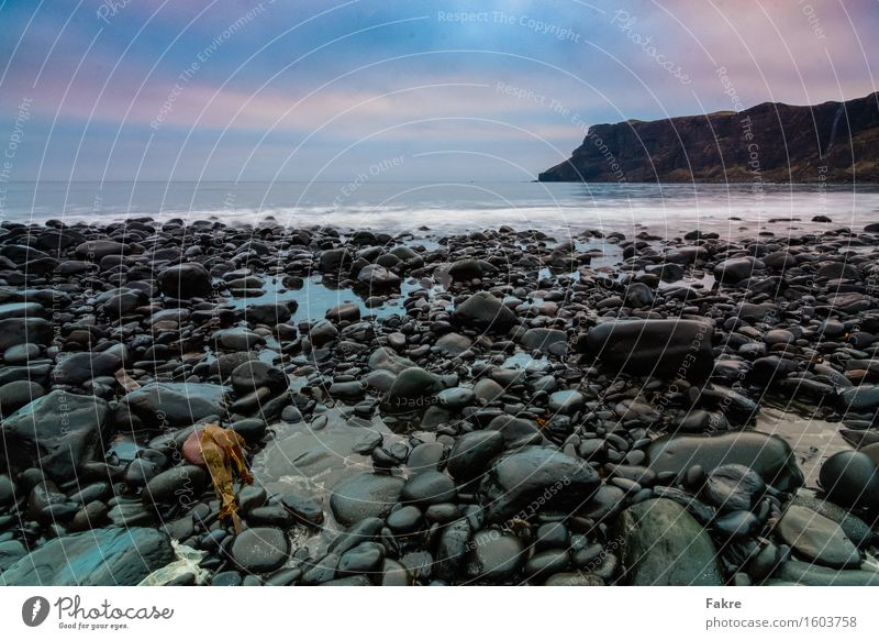 Talisker Bay Adventure Far-off places Environment Nature Landscape Elements Earth Sand Water Sky Clouds Bad weather Waves Coast Ocean Island Scotland